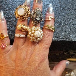 9 vintage rings